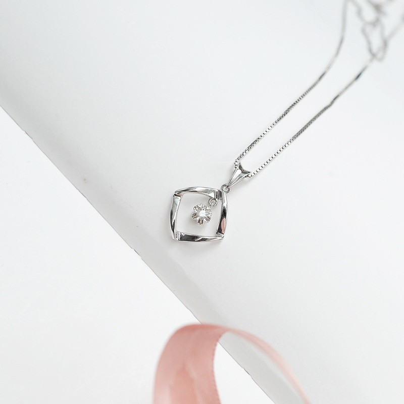 1 10 Carat Diamond Pendant On 10k White Gold Jeenjewels