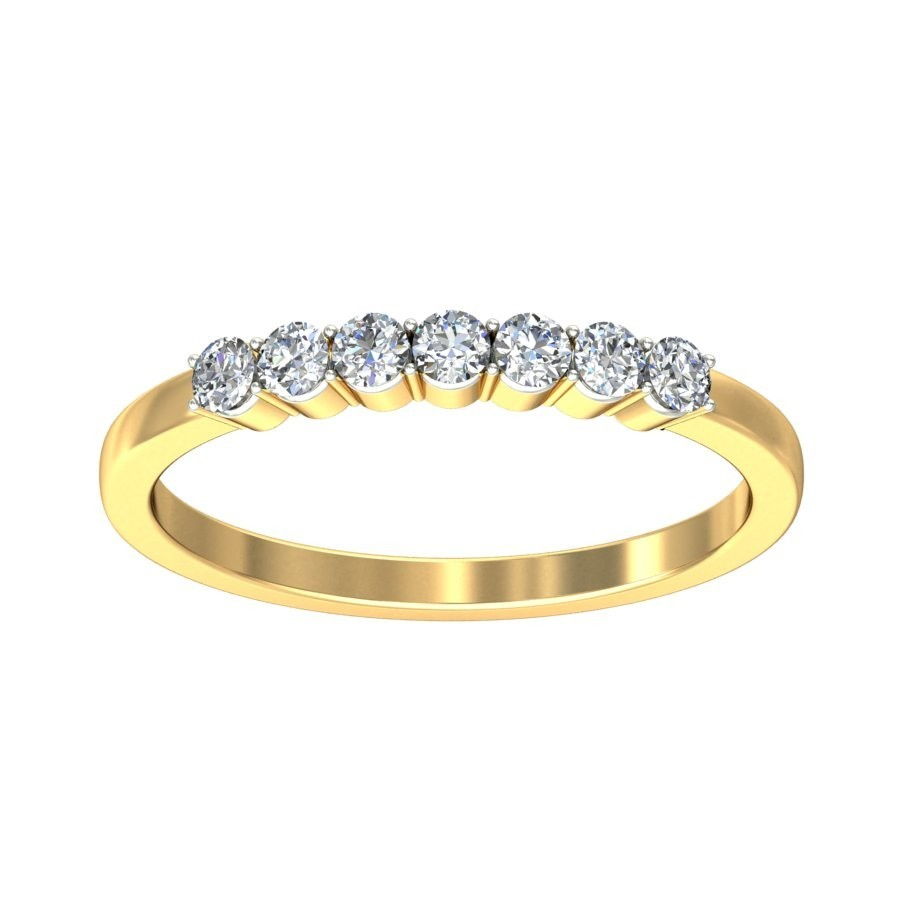 band prong with eternity diamond rose ring home bands scalloped wedding in product gold diamonds set
