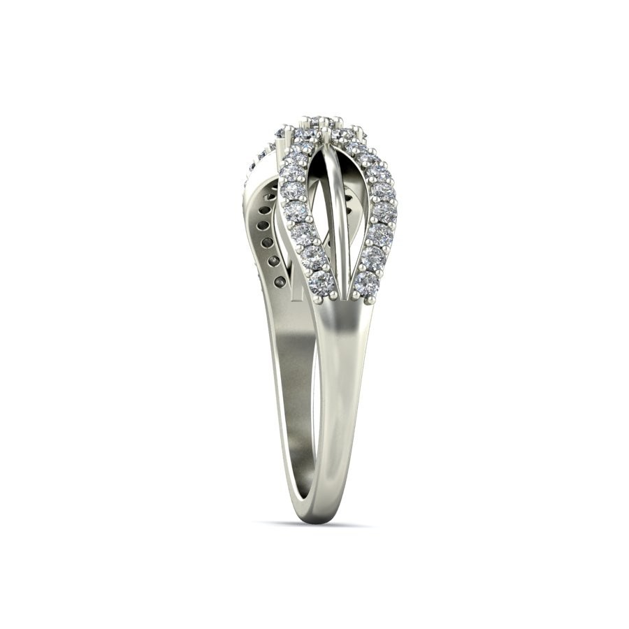 Unique Cheap Engagement Ring 0 50 Carat Round Cut Diamond on White Gold Jee