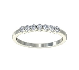 Round Diamond Wedding Band for Her on Sale
