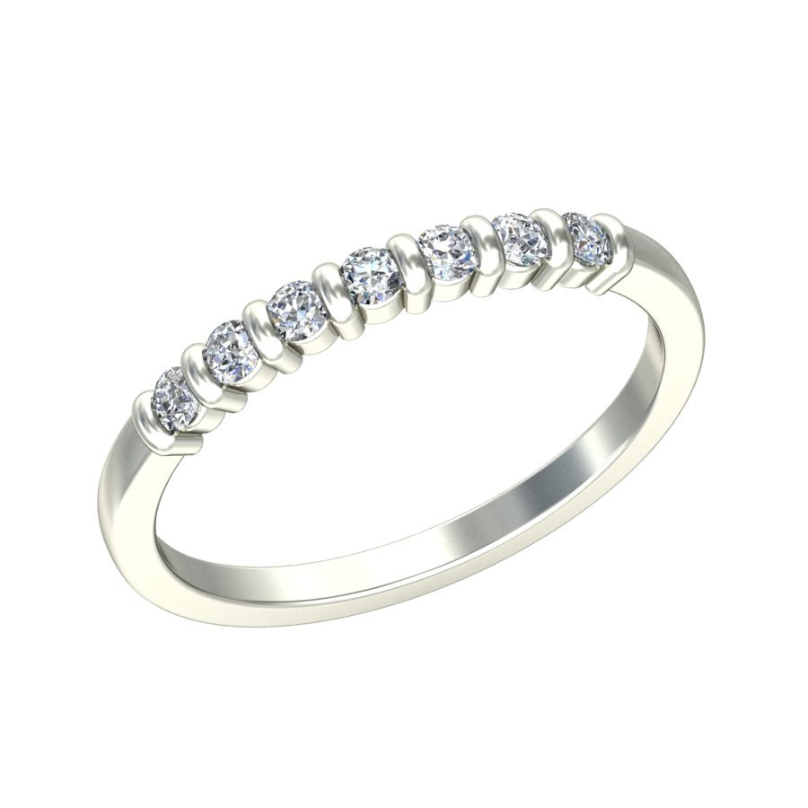 ... Round Diamond Wedding Band For Her On Sale ...