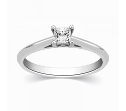 Princess Solitaire Affordable Diamond Engagement Ring on Sale