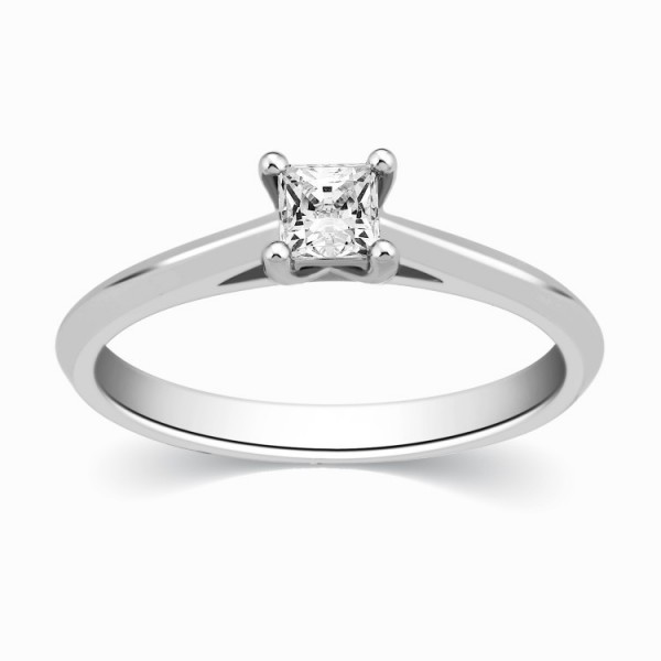 Pleasing Inexpensive Solitaire Engagement Ring 0 25 Carat Princess Cut Diamon