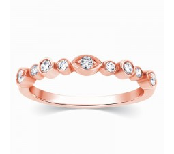 Beautiful Rose Gold Diamond Wedding Ring Band