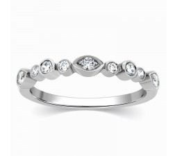 Beautiful White Gold Diamond Wedding Ring Band