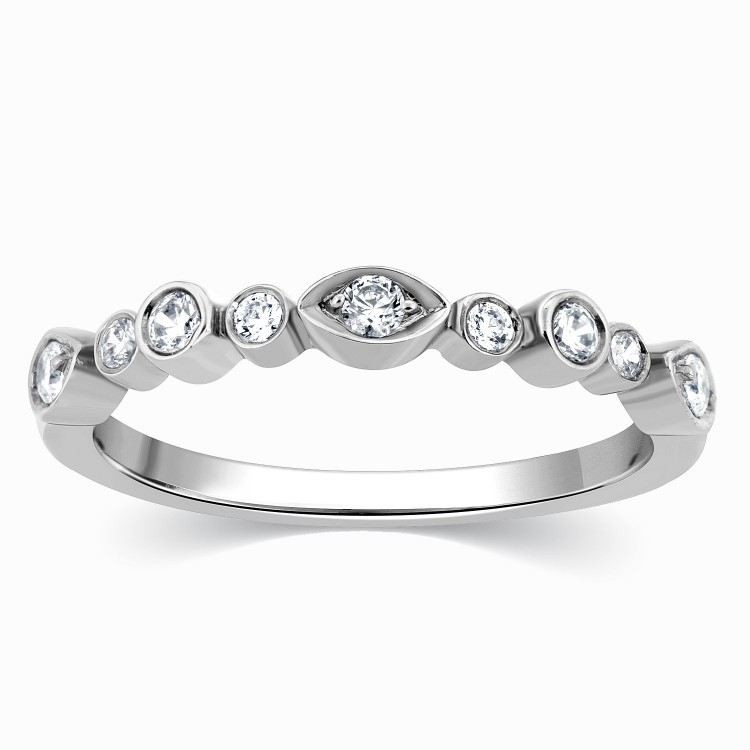beautiful white gold wedding ring band jeenjewels