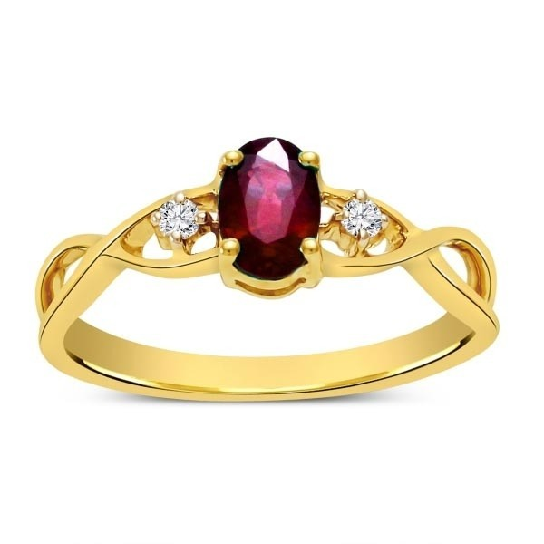 Lovely Ruby and Diamond Infinity Ring Diamond Wedding Ring 110