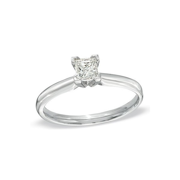 ceeb89de00a733 ... Cheap Solitaire Wedding Ring 0.25 Carat Princess Cut Diamond on Gold.  1/4 Carat Princess Solitaire Diamond Engagement Ring in White Gold