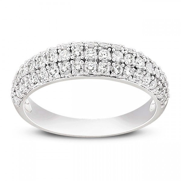 1 Carat Halo Diamond Princess Engagement Ring in White Gold