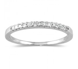 Affordable Round Diamond Wedding Ring with 1/4 Carat Round Diamonds