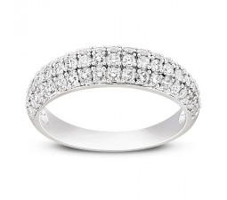 Three Row beautiful 1/2 Carat Round Diamond Wedding Band