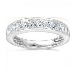 Princess Channel Set Diamond Wedding Ring in Gold