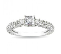 Sale on Princess Diamond Three Stone Engagement Ring