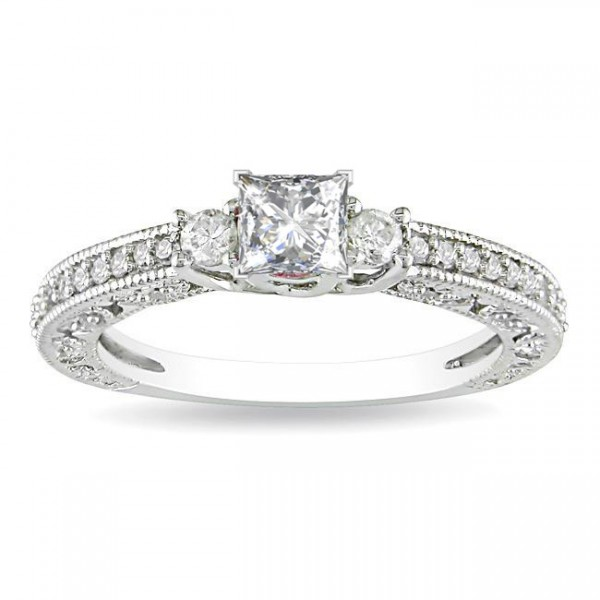 Sale on Princess Diamond Three Stone Engagement Ring