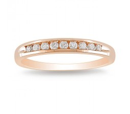 Rose Gold Channel set Diamond Wedding Band