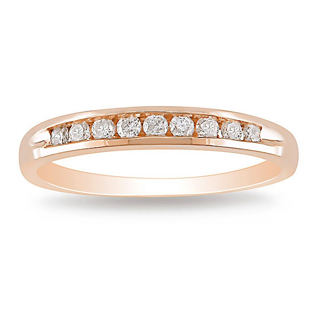 rose gold channel set diamond wedding band - Rose Gold Diamond Wedding Ring