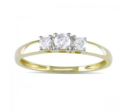 Affordable Three Stone Round Diamond Engagement Ring on Sale