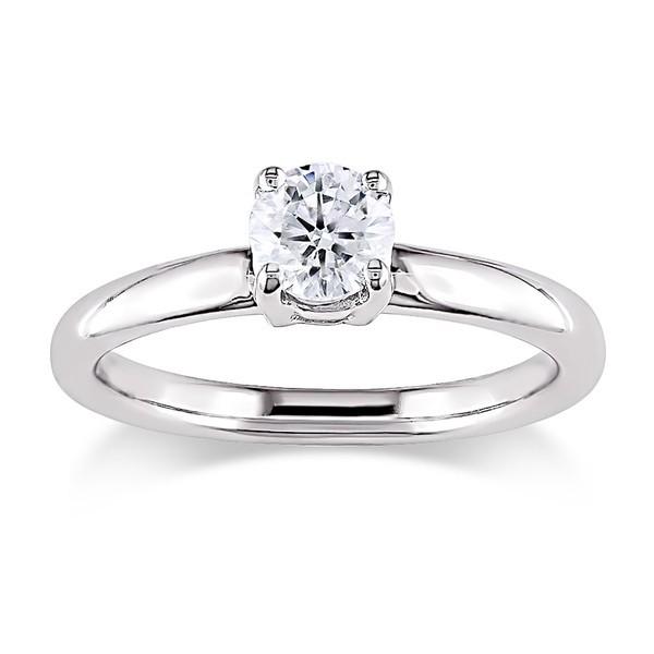 1/3 Carat Solitaire Round Diamond Engagement Ring