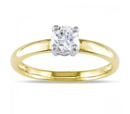 1/3 Carat Solitaire Round Diamond Engagement Ring
