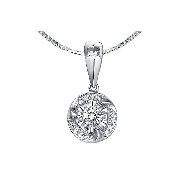 13 carat diamond circle pendant on 10k white gold jeenjewels 110 carat diamond circle pendant on 10k white gold aloadofball Choice Image