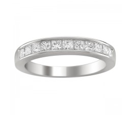 Channel Set Princess 1 Carat Wedding Ring Band