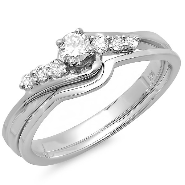 Affordable Cheap Diamond Wedding Set 0 33 Carat Round Cut Diamond on 10k Gold