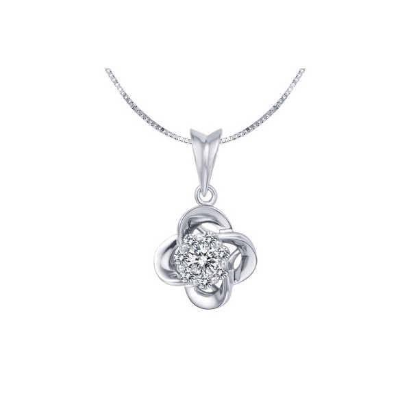 Flower necklaces flower pendants diamond flower necklaces jeenjewels 12 carat beautiful flower shape diamond pendant aloadofball Image collections