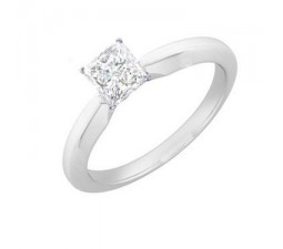 1/3 Carat Solitaire Princess Engagement Ring on Sale