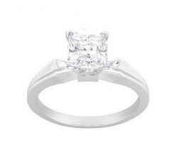Closeout Sale: Half Carat Princess Solitaire Engagement Ring in White Gold