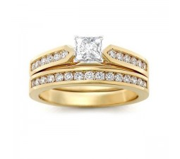 Closeout Sale: 2 Carat Princess Diamond Wedding Set for Women
