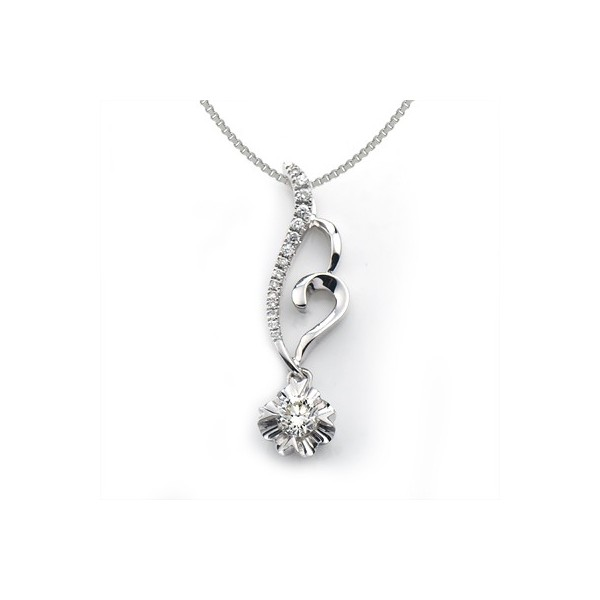 Heart and circle shape diamond pendant on 10k white gold jeenjewels 1 carat diamond pendant mozeypictures Choice Image