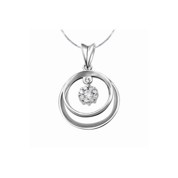 Circle pendants circle necklaces circle shape pendants circle shape diamond carat pendant on 10k white gold aloadofball Choice Image