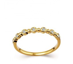 1/5 Carat Women Wedding Band on 10k Yellow Gold