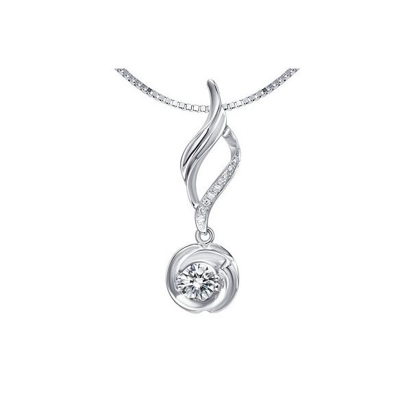 1/4 Carat Diamond Circle Pendant on 14k White Gold