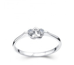 Heart Carat Diamond Promise Ring on 10k White Gold