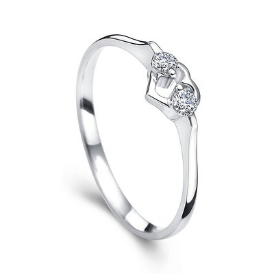 hearts diamond promise ring on 10k white gold jeenjewels. Black Bedroom Furniture Sets. Home Design Ideas
