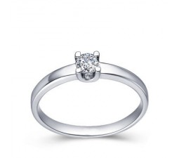 1/2 Carat Diamond Solitaire Ring on 10k White Gold
