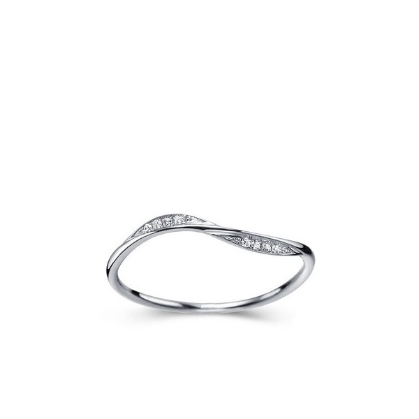 Affordable Women Diamond Wedding Band on 9ct White Gold JeenJewels