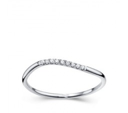 1/4 Carat Diamond Women Wedding Band Ring on 14k White Gold