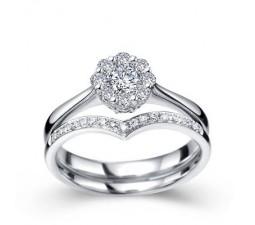 1/2 Carat Diamond Bridal Set on 10k White Gold