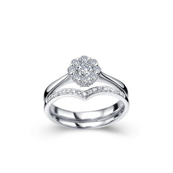 Gleaming Diamond Wedding Set JeenJewels