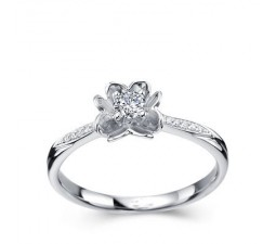 1/4 Carat Diamond Ring on 10k White Gold