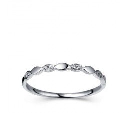 Classic Women Wedding Band on 10k White Gold