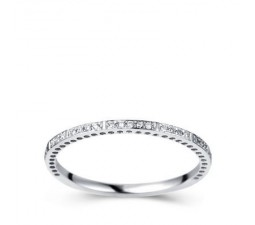 1/4 Carat Diamond Wedding Band on 10k White Gold