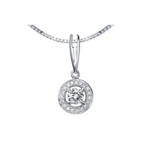 Circle shape diamond pendant on 18k white gold jeenjewels 12 carat diamond circle pendant on 10k white gold mozeypictures Choice Image