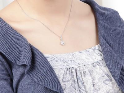 Circle shape diamond pendant on 18k white gold jeenjewels 12 carat diamond circle pendant on 10k white gold aloadofball Choice Image