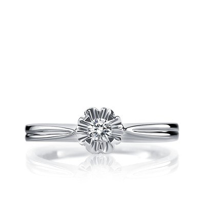 1 10 carat cut solitaire promise ring on 9ct