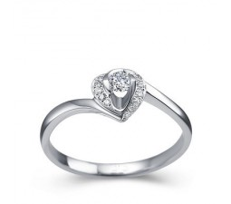 1/4 Carat Diamond Heart Shape Promise/Engagement Ring