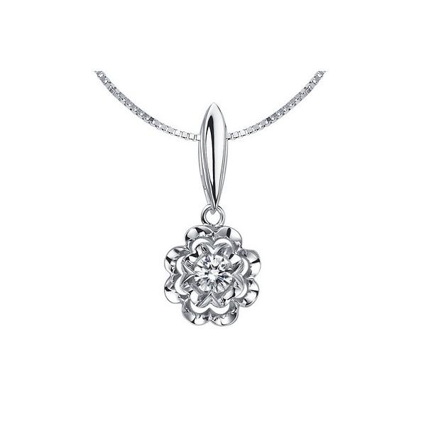 1/10 Carat Diamond Pendant on 10k White Gold