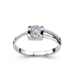 1/2 Carat Diamond Engagement Ring on 10k White Gold